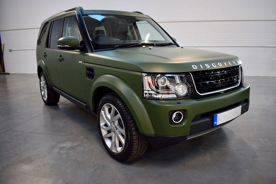 Wrapped Matte Military Green Landrover Discovery