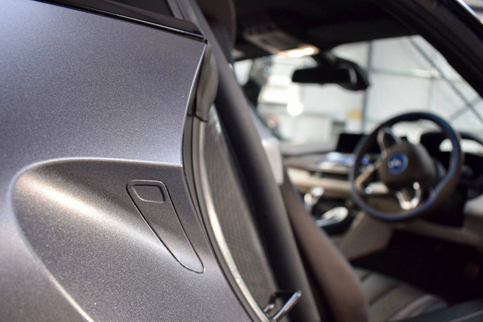 Wrapped Matte Grey BMW i8