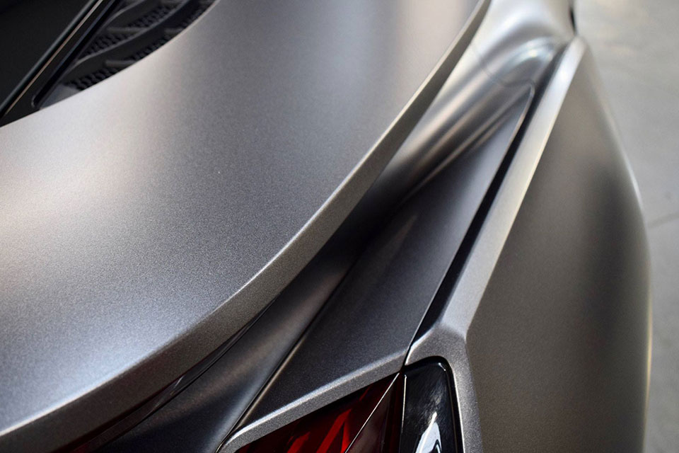 Wrapped Satin Grey BMW i8