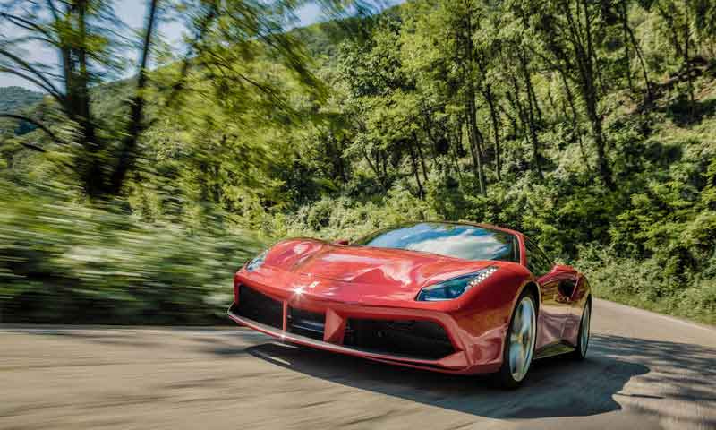 road trip europe with slap adventures, ferrari 488