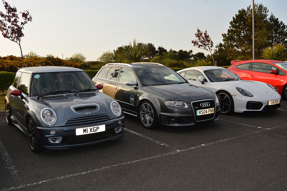 Mini Cooper, Audi RS4, Porsche Cayman GTR - Road Trip to Scotland with Slap Adventures