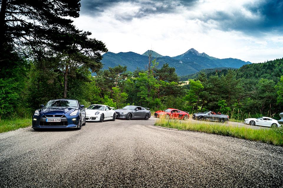 Blue MY17 Nissan GTR, Road Rally in Europe, Driving Adventure, Slap Adventures