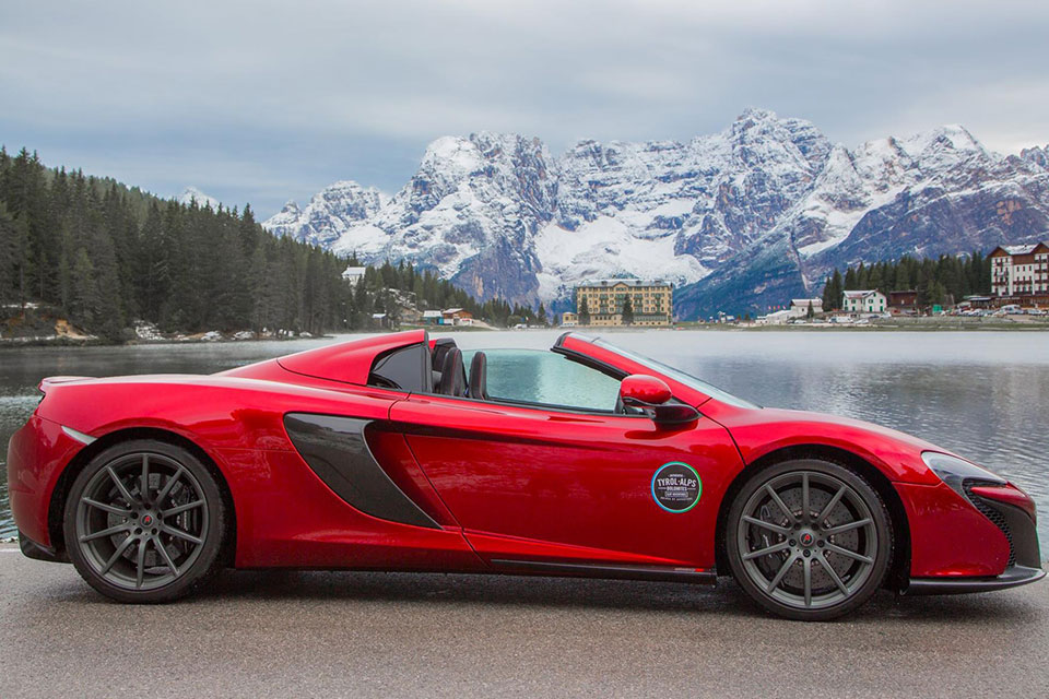 Mclaren 650s in Italy on a Road Trip