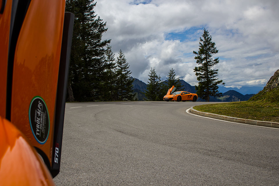 Orange Mclaren Mp4 12C and Mclaren 570s