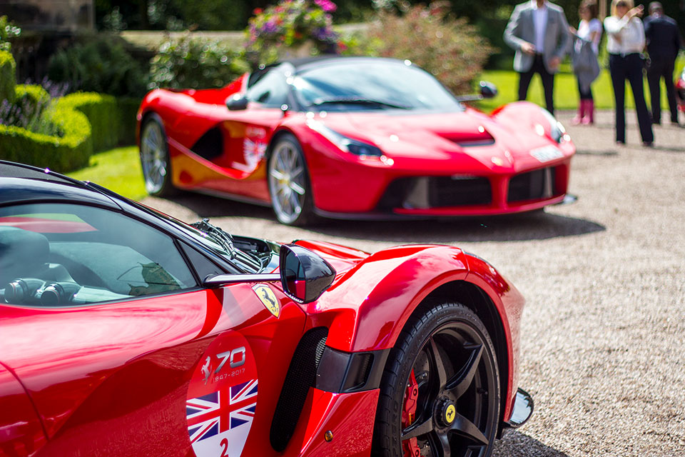 Red Ferrari La Ferrari at Capesthorne Hall Cheshire