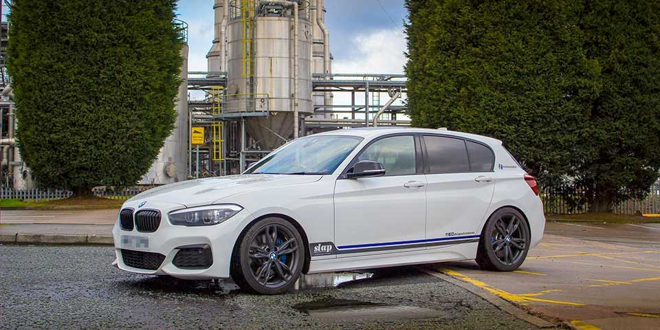 White BMW M140i Shadow Edition