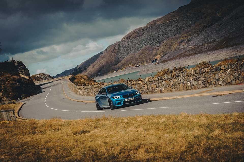 BMW Drive Day, Road Trip Wales, Blue BMW M2