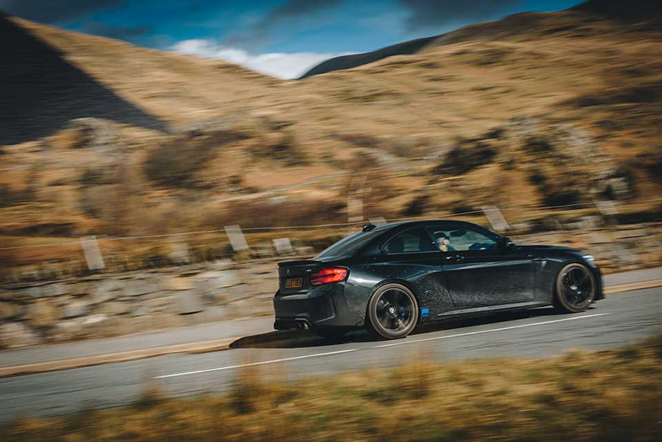 BMW Drive Day, Road Trip Wales, Black BMW M2