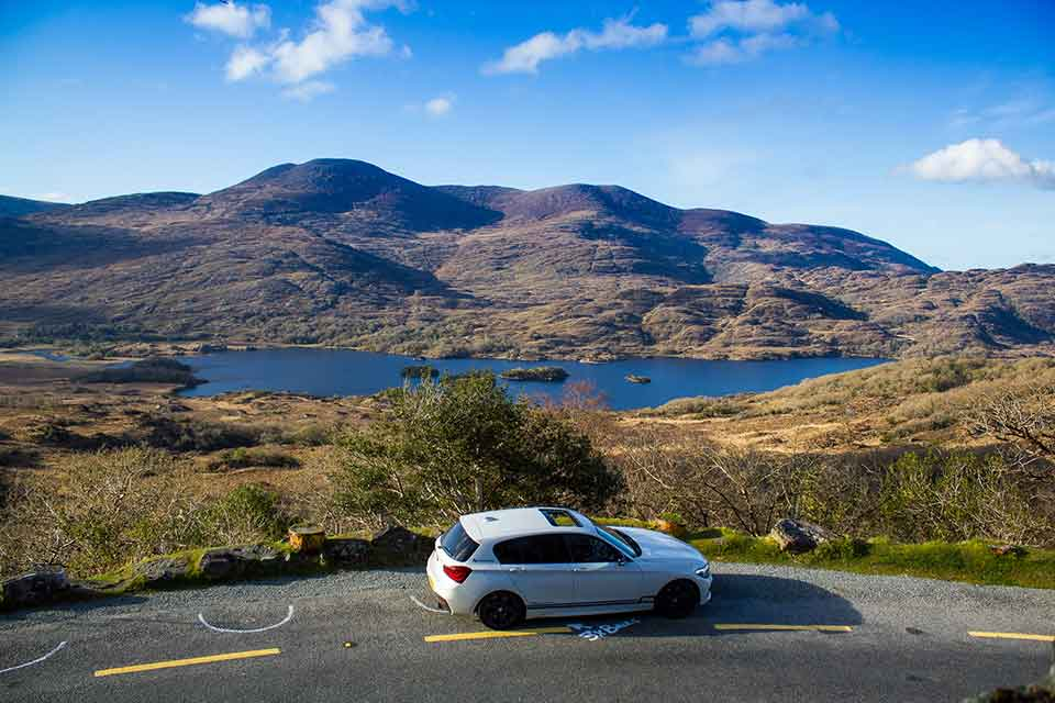Car Rally Ireland - White BMW M140i
