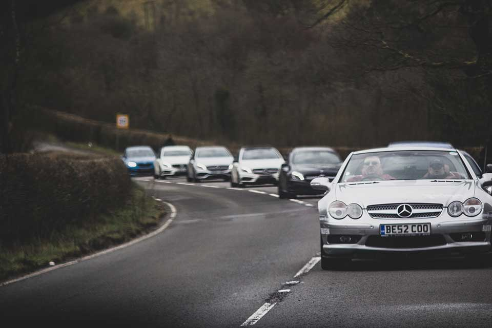 Mercedes Brabus SL, Drive Day in Wales