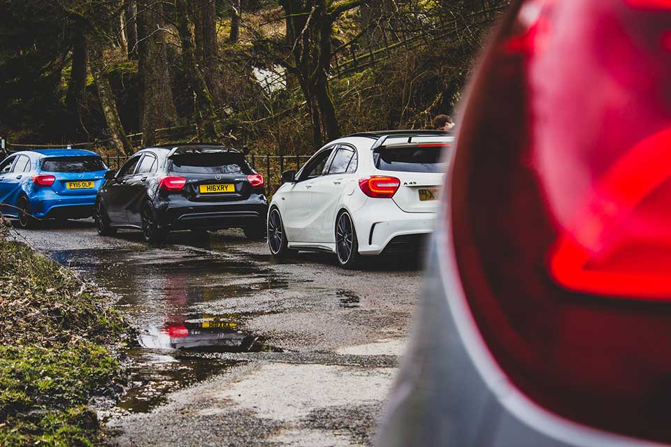Mercedes A45 AMG, Elan Valley in Wales