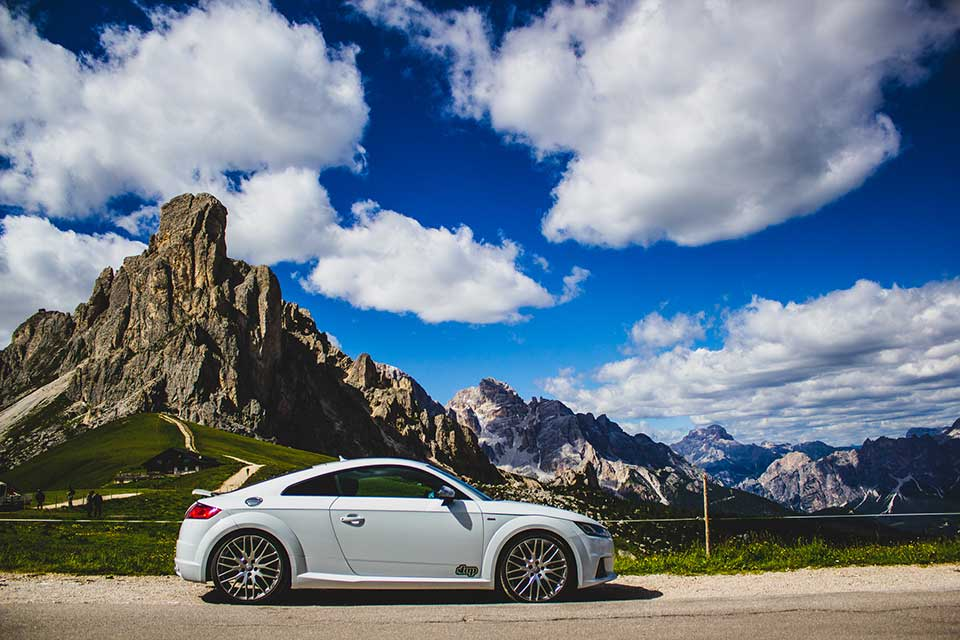 White Audi TT - Luxury Driving Holiday Europe