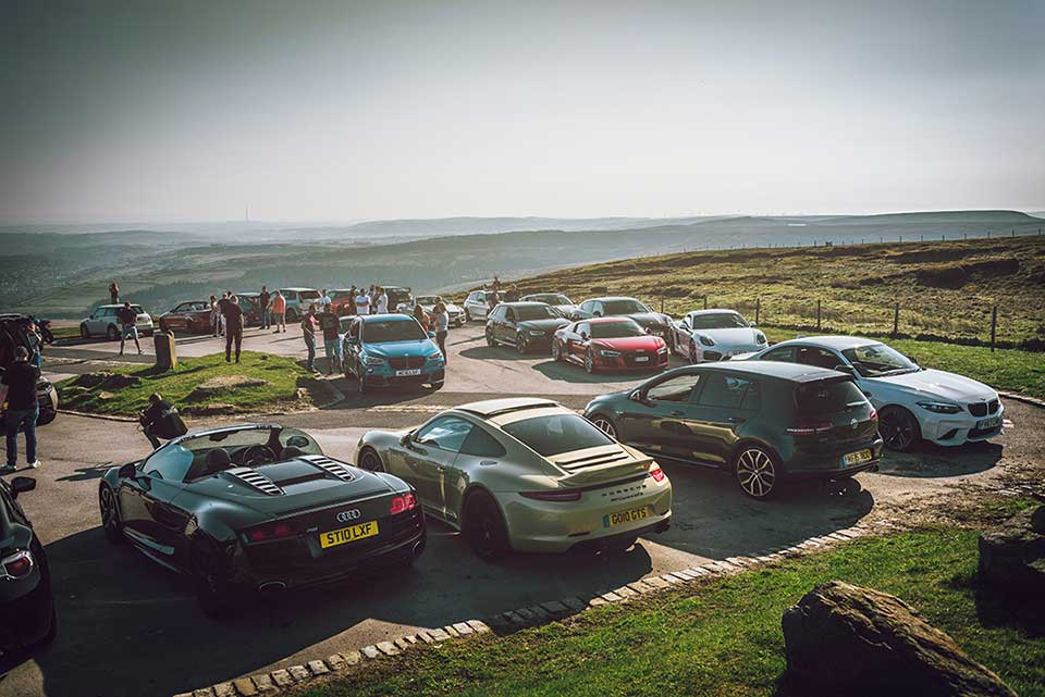 Supercars in the Peak District