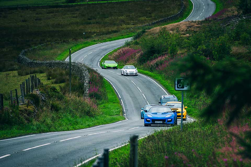 Supercars in North Wales Evo Triangle