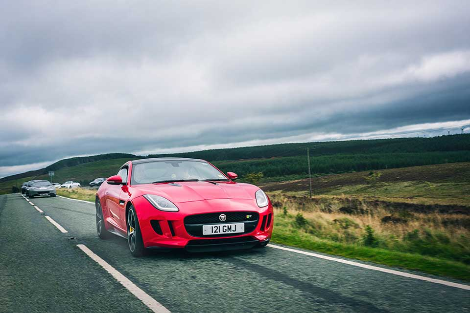 Red Jaguar F-Type