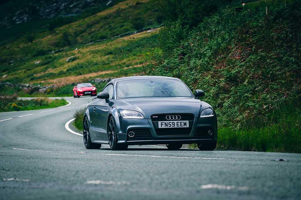 Grey Audi TTRS