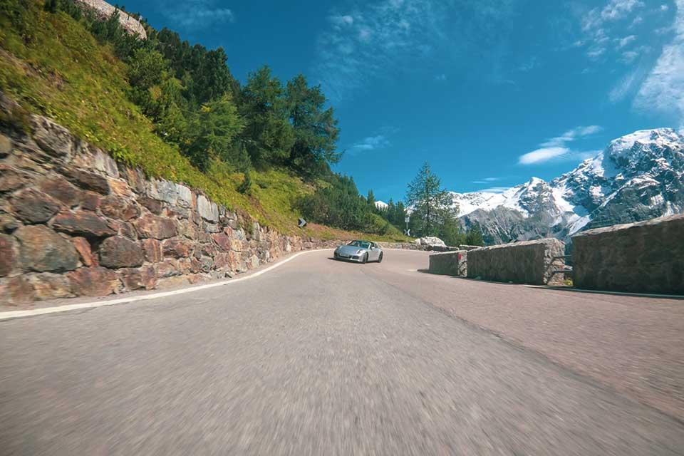 Silver Porsche 911 Targa - Supercar Rally Europe - Slap Adventures