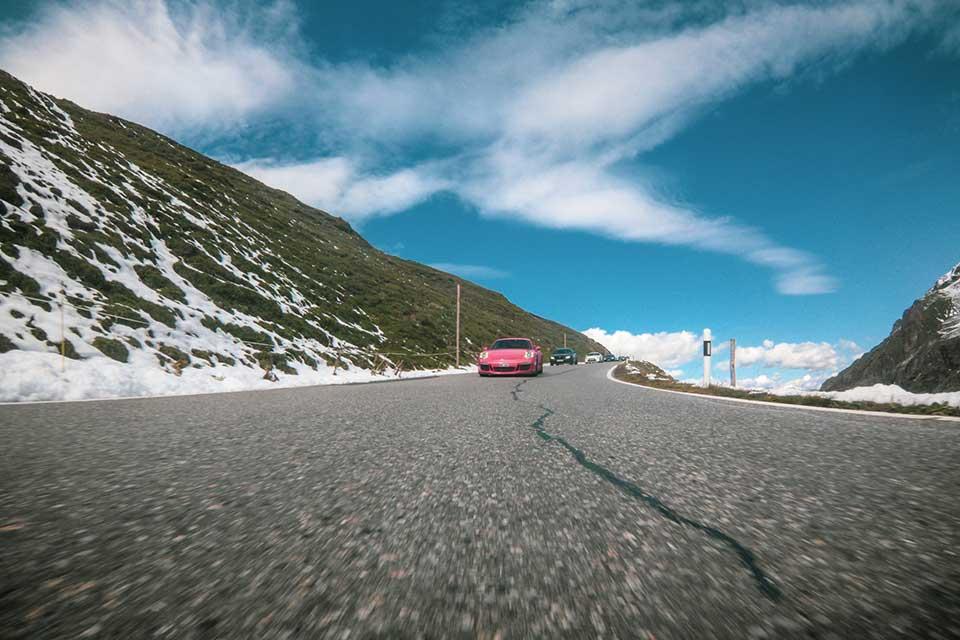 Red Porsche 911 GT3 - Supercar Rally Europe - Slap Adventures