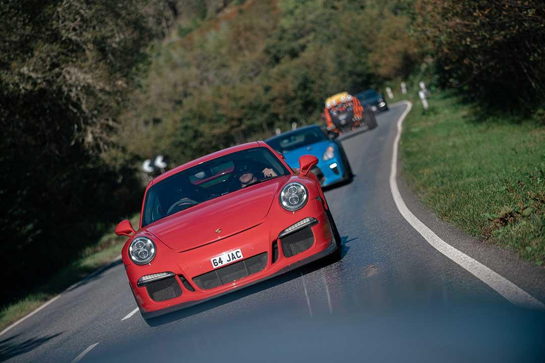 Red Porsche 991 GT3 - Highland Fling Roadtrip to Scotland with Slap Adventures