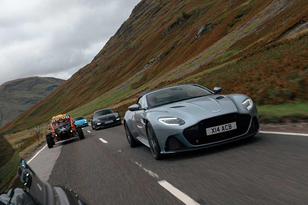 Aston Martin DBS Superleggera - Highland Fling Roadtrip to Scotland with Slap Adventures