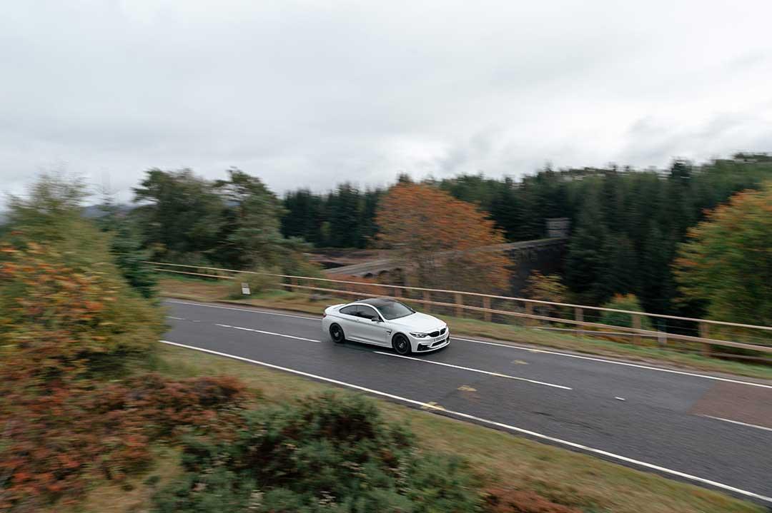 White BMW M4 - Highland Fling Roadtrip to Scotland with Slap Adventures