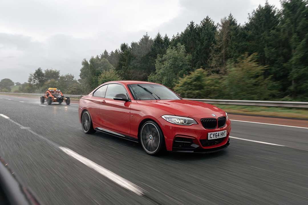 Red BMW M240i - Highland Fling Roadtrip to Scotland with Slap Adventures