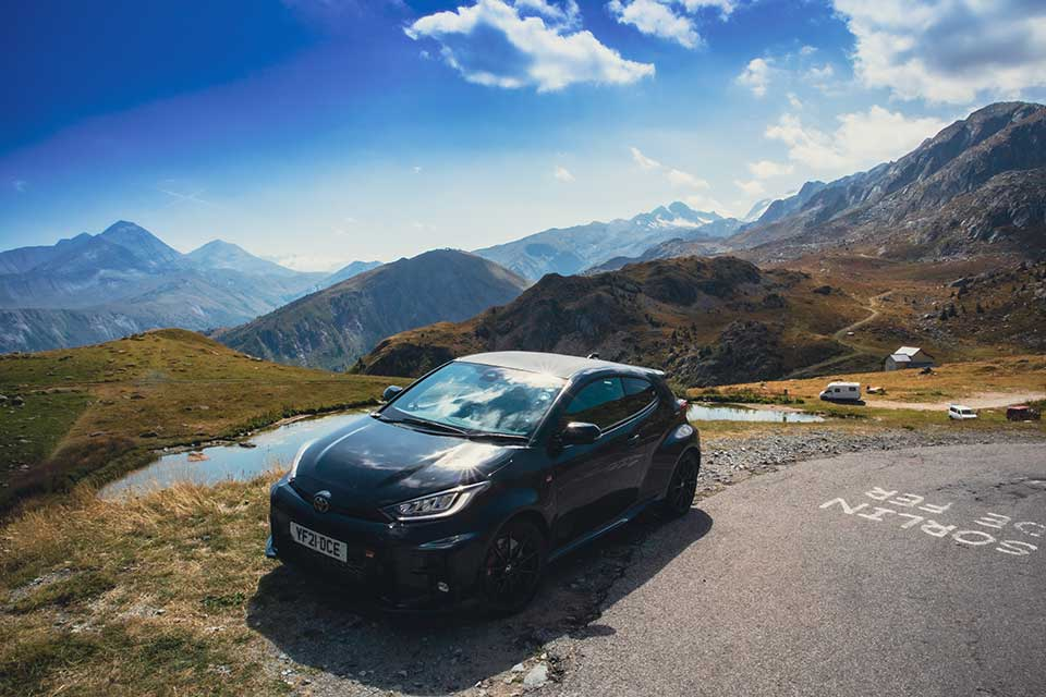 GR Yaris in the French Alps
