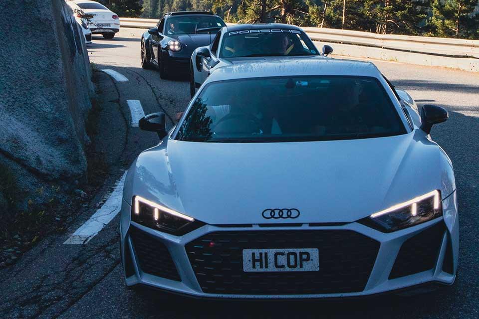 White Audi R8 V10 Plus